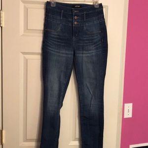 Charlotte Russe Refuge Hi-waisted skinny jeans